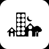 Icono ODS11: Convertir las ciudades y los asentamientos humanos incluyentes, seguros, resistentes y sostenibles